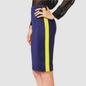 Forever 21 Exclusive Navy Blue Pencil Skirt